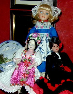 Dolls from Holland, Hungary & Spain